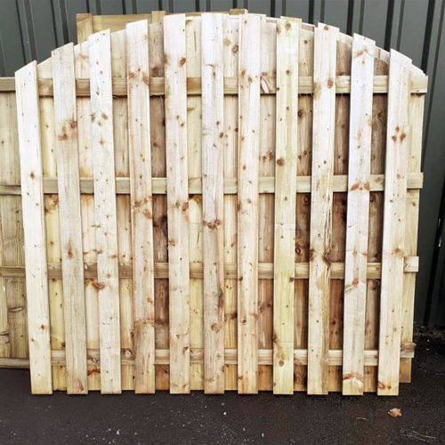 Dome Hit and Miss Fence Fence In Shrewsbury Shropshire