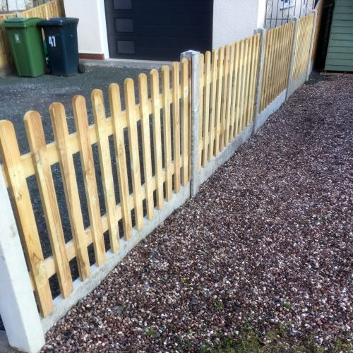 Picket Fence - Fencing Supplies In Shrewsbury, Shropshire Supplied and Fitted